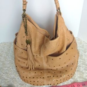 Olivia Harris Large Studded Hobo bag